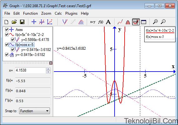Main dialog of Graph