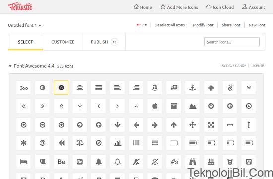 Fontastic: icon font generator