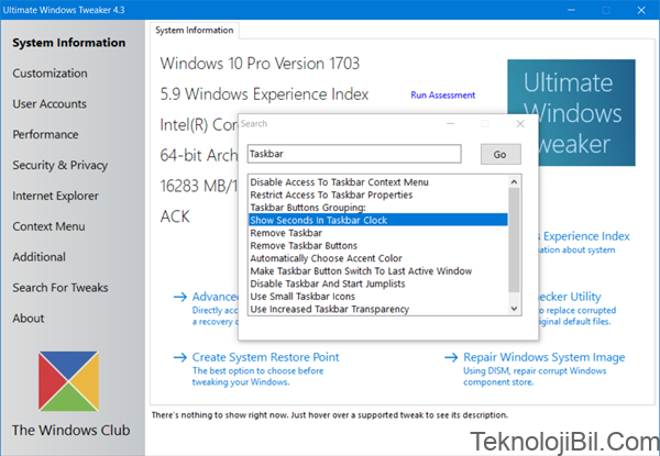 Ultimate Windows Tweaker 4 for Windows 10