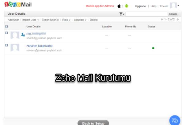 Zoho Alan Adı (Domain) Uzantılı Mail Alma