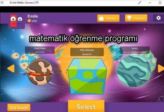 matematik öğrenme programı